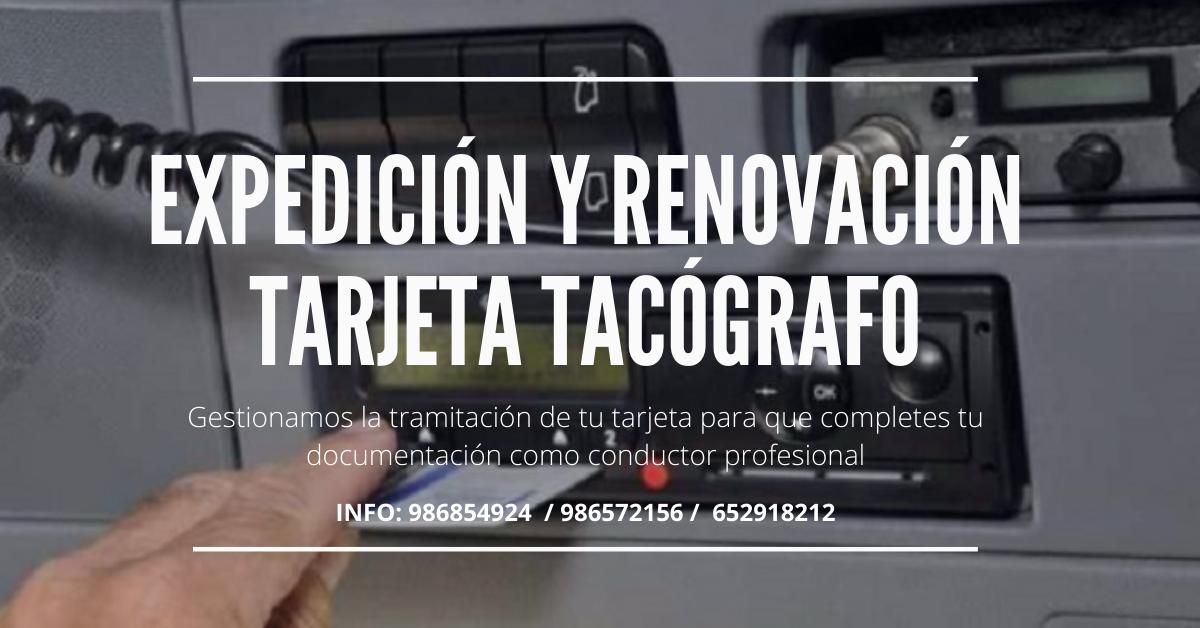 TRAMITACIÓN DE TARJETA TACOGRAFO DIGITAL